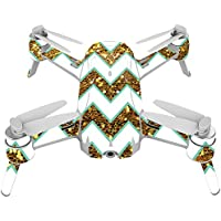 Skin For Yuneec Breeze 4K Drone – Glitter Chevron | MightySkins Protective, Durable, and Unique Vinyl Decal wrap cover | Easy To Apply, Remove, and Change Styles | Made in the USA