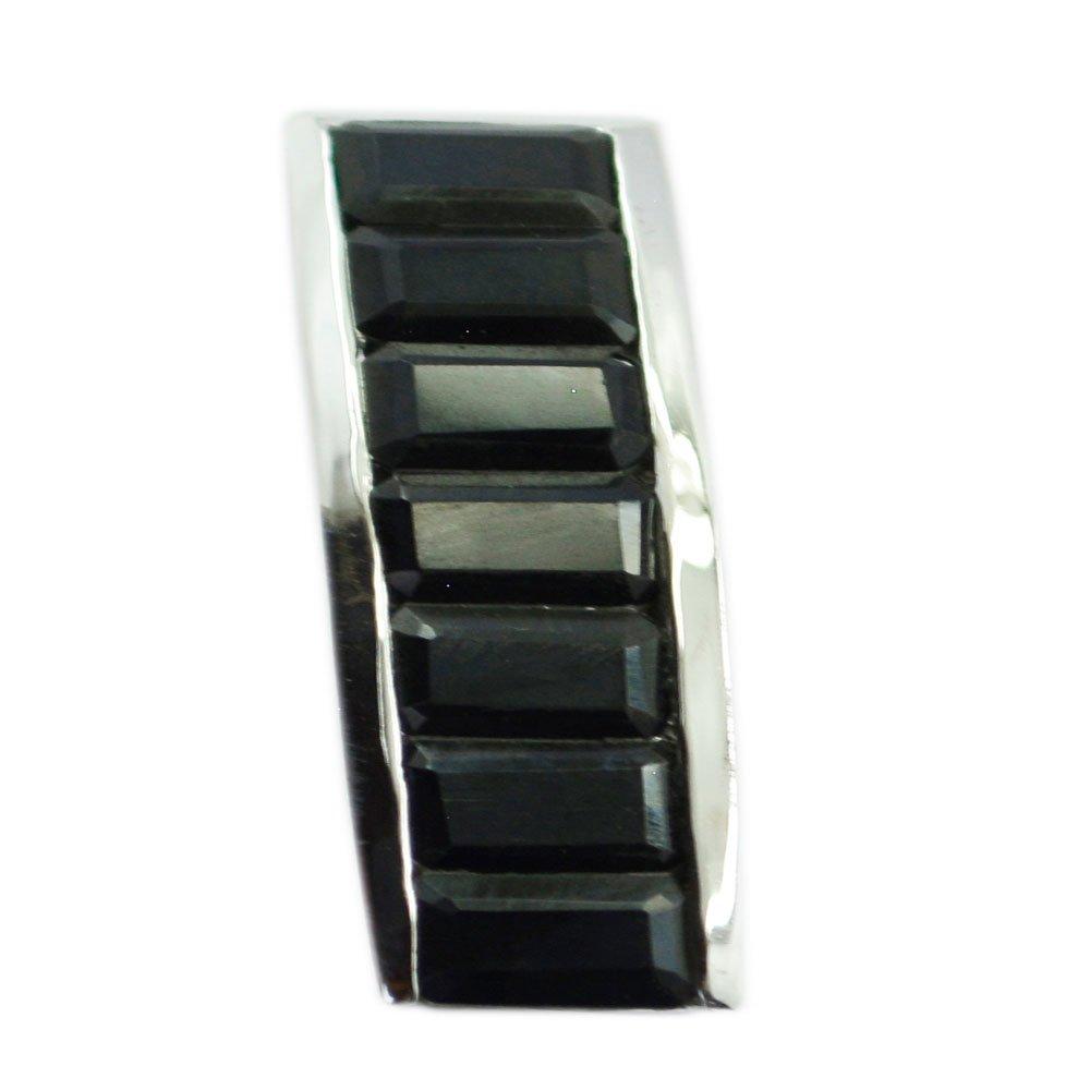 55カラット天然ブラックオニキス925シルバーチャームの女性ペンダントチャクラヒーリング長方形シェイプネックレス   B077L597FQ