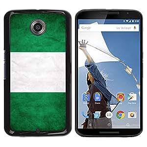 Caucho caso de Shell duro de la cubierta de accesorios de protección BY RAYDREAMMM - Motorola NEXUS 6 / X / Moto X Pro - Nigeria Grunge Flag