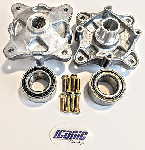 08-14 Polaris RZR 800 / S 800/4 800 Rear Wheel Hub Service Kit with bearings and studs BOTH left and right Replaces Polaris 5135113 7518378 ()