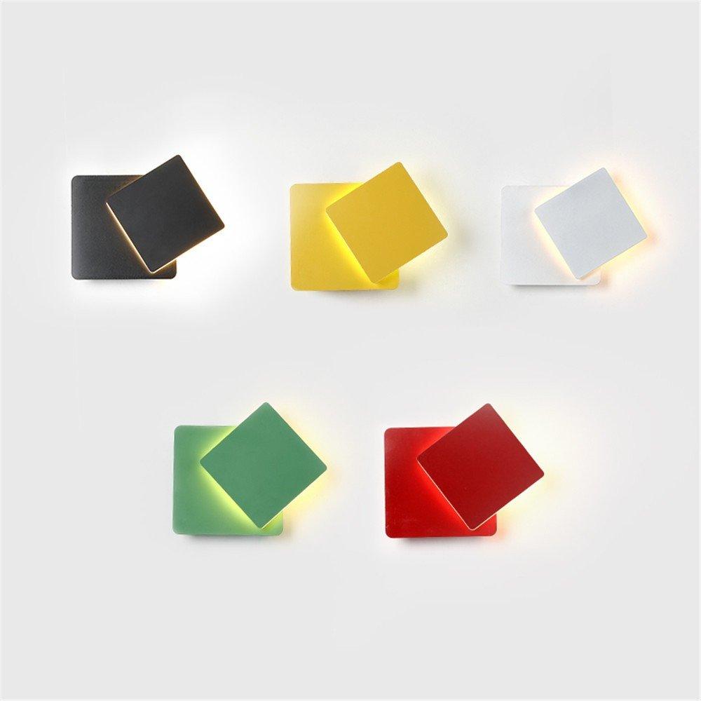 Weiß Leohome Nordic moderne einfache kreative Wandleuchte bunte Macaron Decke montiert Lampe Korridor und Kinderzimmer Dekoration LED Wandleuchte, weiß