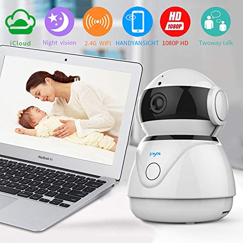 WiFi IP Camera,1080P FHD Indoor Home Security Wireless Camera,with Night Vision Motion Detection Two-Way Audio Elder Pet Baby Monitor,Works with Android iOS