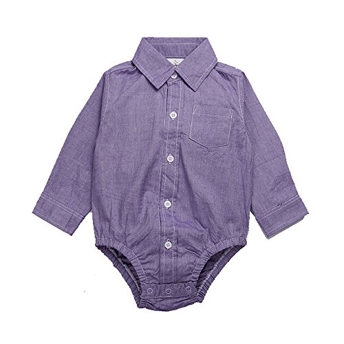 Ding-dong Baby Boys Cotton Long Sleeve Shirt Romper