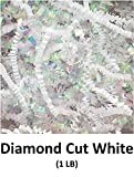 Crinkle Cut Paper Shred Filler (1 LB) for Gift Wrapping & Basket Filling - Iridescent Diamond Cut White | MagicWater Supply