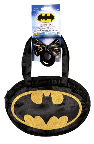 Batgirl Purse and Hair Bow (Batman Dressing Up Outfit)