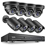 SANNCE 16 Channel 1080P AHD DVR CCTV Security Cameras System W/ 4 Bullet Camera 4 Dome Camera AHD 2.0MP Weatherproof Night Vision Indoor/Outdoor Home Surveillance Camera, Email Alert (NO HDD) For Sale