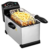 Image of VonShef 3 Litre Non-Stick Stainless Steel Deep Fryer with Viewing Window
