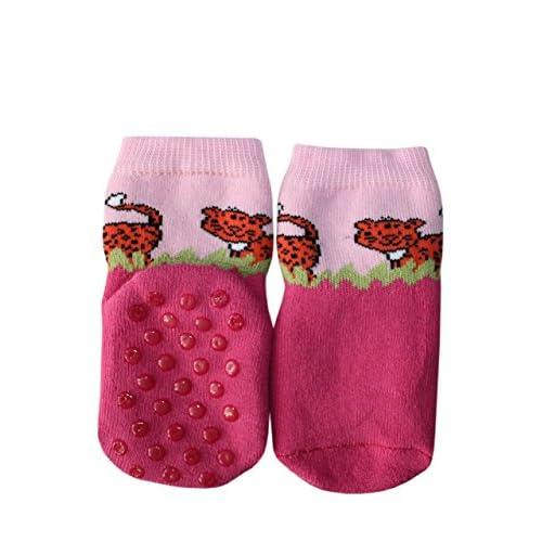 ABS Chaussettes pour enfants anti-glissement : Taille: 0-3 Mois (13-14), Couleur: Rose. Prix a partir de constructeur.