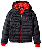 Spyder Big Boys' Upside Down Jacket, Black, M