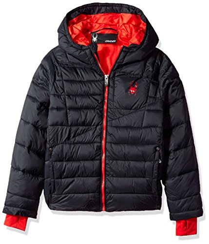 Spyder Big Boys' Upside Down Jacket, Black, M by Spyder