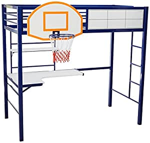 Amazon Com Powell S Furniture Hoops Basketball Bed Bunk