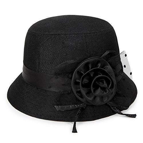HiiWorld 2019 Women's Spring and Summer Linen Sunshade Hat Ladies Sun Hat ()