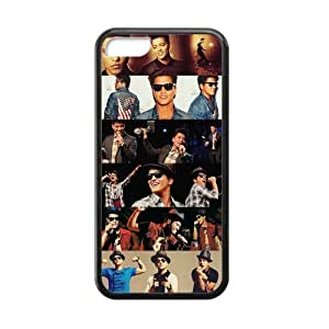 Creative Generic Bruno Mars Fashion Jigsaw Portrait Custom Cases For IPhone 5C TPU (Laser Technology)