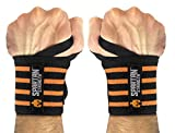 Sparthos Wrist Wraps 21 inches(!) Long - for Crossfit, Gym, Powerlifting, Weightlifting, Bodybuilding - Heavy Duty - for Men & Women - Improves Hand Strength & Supports Wrists