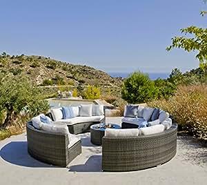 Hévéa salón de jardín 'Salermo'–sofá 12plazas + mesa baja