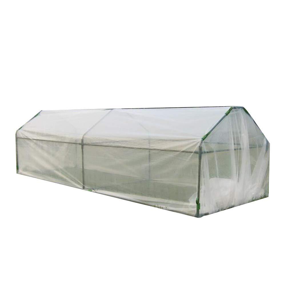 LIANGLIANG 温室フラワースタンド用庭ポータブルは植物を移動させることができます防雨熱保存小屋DIYの組み合わせプラスチック引き裂き抵抗、2スタイル (色 : クリア, サイズ さいず : 310x125x88cm) B07MJ3GG4K クリア 310x125x88cm