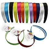 Narrow Satin Headbands - 2.5 cm - 12 Beautiful Hard Headbands by CoverYourHair