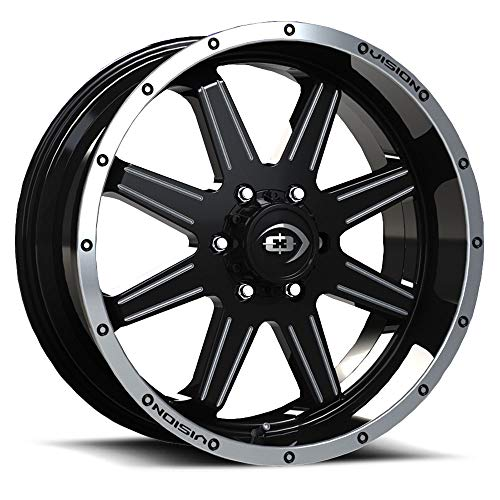 (VISION OFF ROAD CANNIBAL Wheels/Rims 20x9 inch 135 ET12 Gloss Black Machined Lip Milled Spoke)