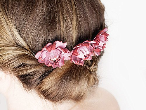 bridal-pink-leather-flower-combs-set-of-3-wedding-accessory