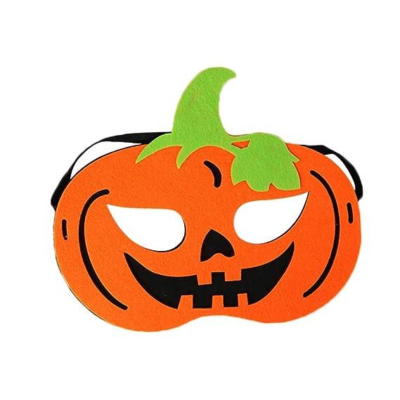 Wicemoon Halloween Máscara de Calabaza de Fieltro máscaras de Ojo Disfraz Masquerade Fiesta máscaras: Amazon.es: Hogar