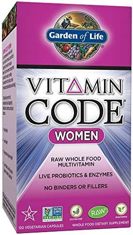 Garden of Life Multivitamin for Women - Vitamin Code Women's Raw Whole Food Vitamin Supplement with Probiotics, Vegetarian, 120 Capsules