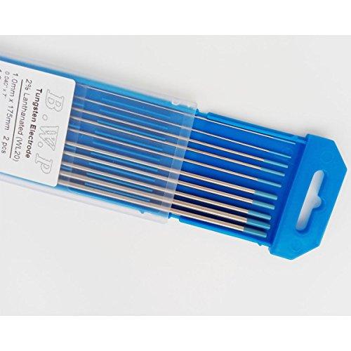 2/% Lanthanate Ground Finish 2.4 175mm TIG Welding Tungsten Electrodes WL20 3//32 7