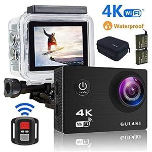 GULAKI Cámara Deportiva 4K WiFi Ultra HD 16MP Cámara Acción de