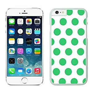Iphone 6 Case 4.7 Inches, Polka White and Green Dot Perfect Fit White Phone Protective Speck Cover Case for Apple Iphone 6 Accessories