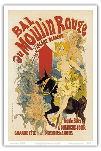 Pacifica Island Art - Bal au Moulin Rouge Paris France - Vintage Cabaret Casino Poster by Jules Chéret c.1893 - Master Art Print - 12in x 18in