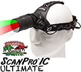 Wicked Lights ScanPro IC Ultimate Night Hunting Headlamp with Full Intensity Control and GREEN, RED, and WHITE LED's for coyote, predator, and hog hunting