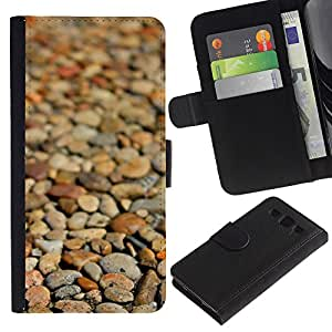 All Phone Most Case / Oferta Especial Cáscara Funda de cuero Monedero Cubierta de proteccion Caso / Wallet Case for Samsung Galaxy S3 III I9300 // Beach Brown Pattern Focus