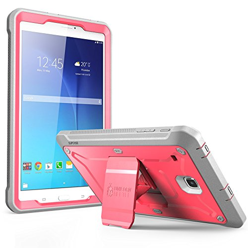 Galaxy Tab E 8.0 Case, SUPCASE Unicorn Beetle PRO Series Full-Body Hybrid Protective Case with Screen Protector for Samsung Galaxy Tab E 8.0 (SM-T377/T375) (Pink/Gray)