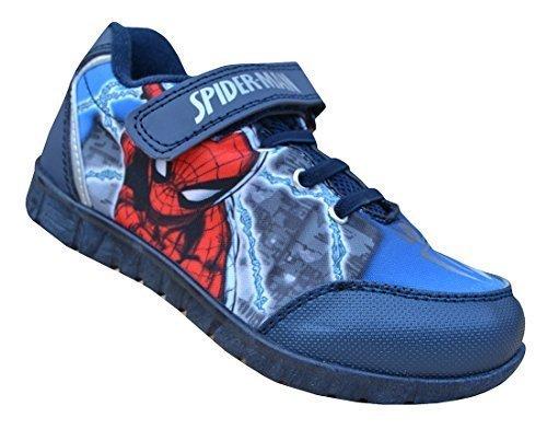 98de9c2a0644e Spiderman Marine de Garçons Rouge Dessin Animé Imprimé Baskets Spiderman Enfants  Chaussures 7-1 -