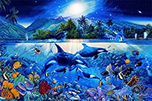 Mundo Submarino - Majestic Kingdom Orcas And Scenery 1-Part Póster Fotomural (175 x 115cm)