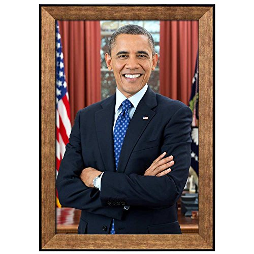 wall26 - Portrait of Barack Obama (44th President of The United States) - American Presidents Series - Framed Art Print Ready to Hang - ()