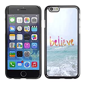 Planetar® ( Believe God Sun Sea Beach Summer Text ) Apple iPhone 6 Plus(5.5 inches)Fundas Cover Cubre Hard Case Cover