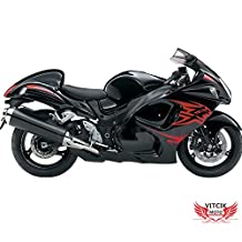 VITCIK (Fairing Kits Fit for Suzuki GSXR1300 GSX-R 1300 GSXR 1300 Hayabusa 2008 - 2015) Plastic ABS Injection Mold Complete Motorcycle Body Aftermarket Bodywork Frame (Black) A035