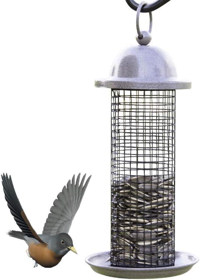 FXQIN Comederos de pájaros de Metal para Colgar en el Exterior, Bandeja de Semillas para comederos de pájaros, Ideal para atraer Diferentes Tipos de pájaros al Aire Libre