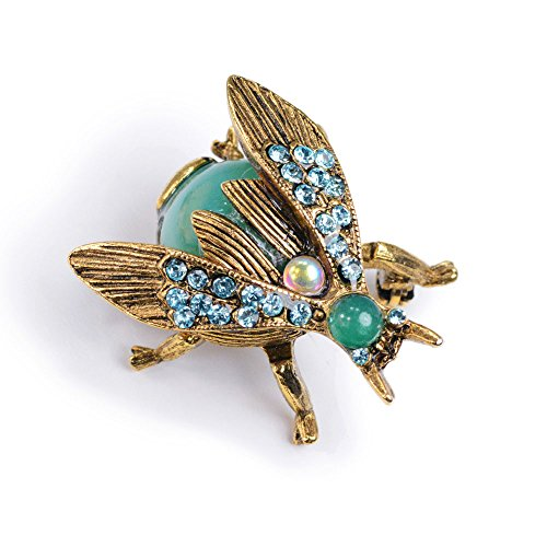 Vintage Gold Bee Bug Insect Brooch Pins (Bee Loved (Pastel)) ()