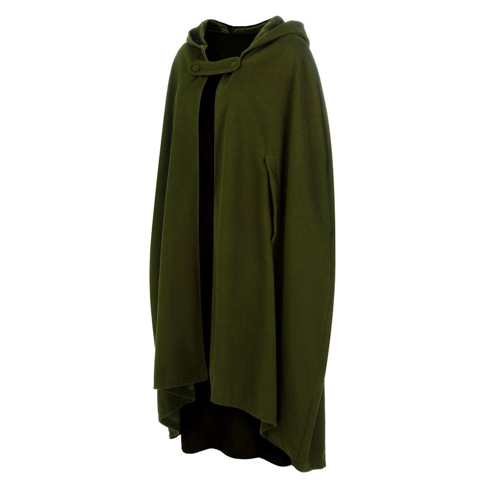 Halloween Cosplay Costumes Party Capes Unisex Christmas Day Hooded Cloak Medieval Cape (Army Green B, L) by Hotcl (Image #3)