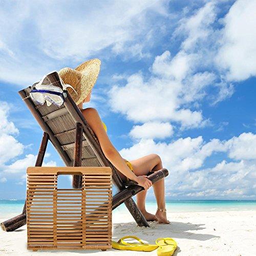 muñeca Almacenamiento Mujer de mano Sólida bolsillos bolso playa playa A bambú nbsp;Bolso bolso grandes nbsp;– bolsillos Mano Hecho bolsillos x4fICwq
