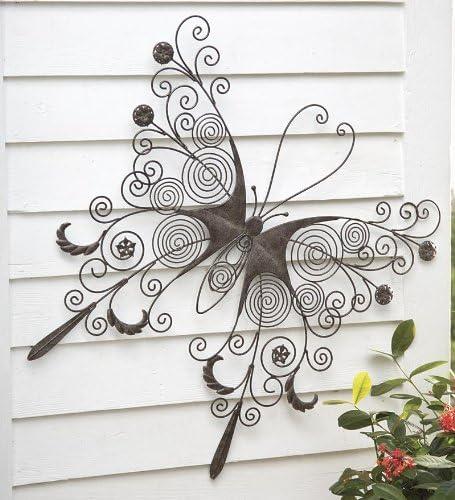Amazon Com Wind Weather Large Metal Butterfly Wall Art Garden Outdoor
