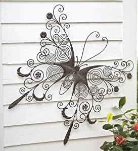 large metal butterfly wall art home kitchen. Black Bedroom Furniture Sets. Home Design Ideas