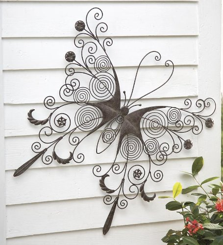 Large Metal Butterfly Wall Art (Outdoor Butterfly Wall Art)