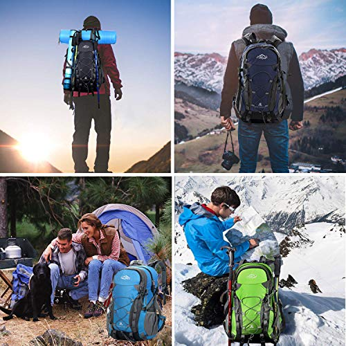 Mountaineering Waterproof Camping Outdoor Bag Trekking 40L with Cover Rain Hiking Blue Backpack Climbing Rucksack Backpack Traveling twqIxvfA