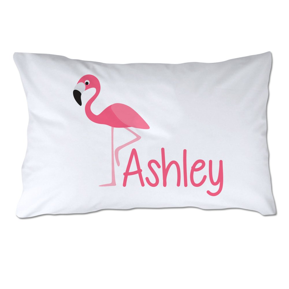 Personalized Toddler Size Flamingo Pillowcase with Pillow Included