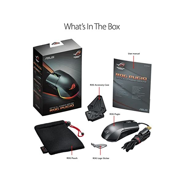 ASUS Optical Gaming Mouse - ROG Pugio | Ergonomic & Truly Ambidextrous PC Gaming Mouse | Configurable & Swappable Side…