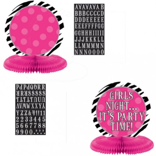Personalize It! Honeycomb Centerpiece | Black/Pink/White Collection | Party Accessory ()