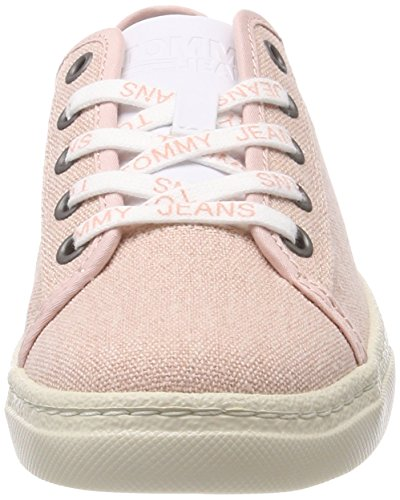 Jeans Light Rose Textile Hilfiger Damen Low Sneaker 646 Tommy Cloud Pink Denim IFqBnwt