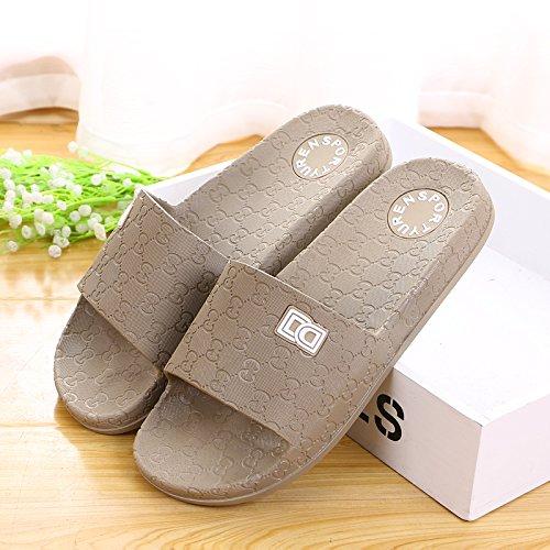 Amantes zapatillas zapatillas de casa de verano, plástico antideslizante base gruesa,41 Mei Hong 42 tarjeta verde